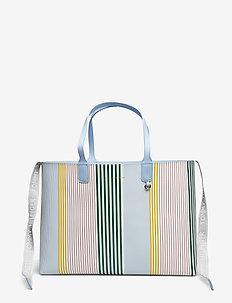 ICONIC TURNLOCK TOTE - shoppere - icon stripe