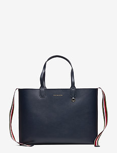 ICONIC TURNLOCK TOTE - fashion shoppers - tommy navy