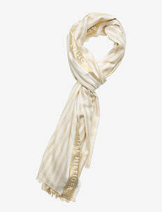 TOMMY SELVEDGE SCARF - GOLD STRIPES