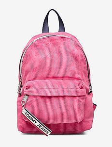 TJW LOGO TAPE MI BAC - backpacks - claret red