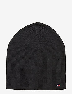 FLAG KNIT BEANIE, BD - BLACK