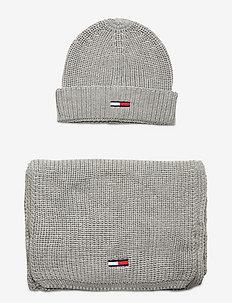 TJW BASIC RIB SCARF & BEANIE GP - bonnets - light grey heather