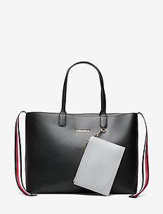 ICONIC TOMMY TOTE SOLID - BLACK