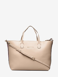ICONIC TOMMY SATCHEL - LIGHT TAUPE