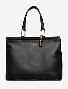 ELEVATED LEATHER TOT - BLACK