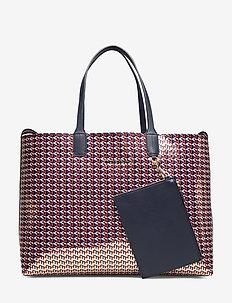 ICONIC TOMMY TOTE MO - fashion shoppers - metallic monogram