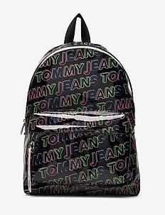 TJW LOGO TAPE BACKPA - backpacks - black print