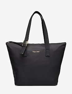 TH NYLON TOTE - fashion shoppers - black