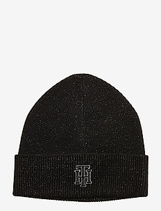 TH RICH GLITTER LOGO - bonnets - black