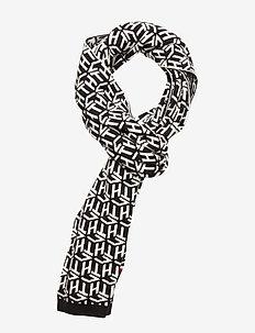 TH CUBE KNIT SCARF - tørklæder - black / white