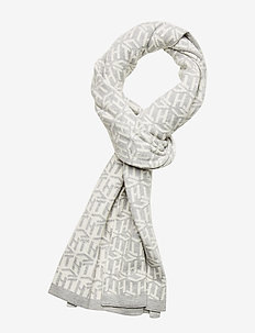 TH CUBE KNIT SCARF - Écharpes - light grey / white