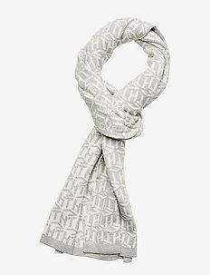 TH CUBE KNIT SCARF - tørklæder - light grey / white