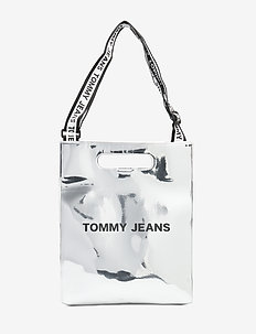 TJW ITEM TOTE SILVER - casual shoppers - silver
