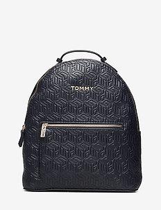 ICONIC TOMMY BACKPAC - rygsække - t. navy embossed monogram