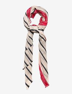SELVEDGE STRIPE SCARF ROPE - scarves - natural