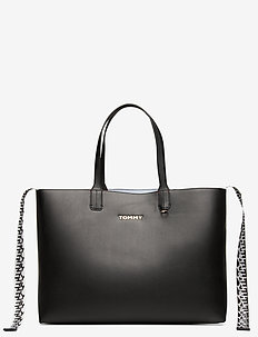 ICONIC TOMMY TOTE - top handle - black
