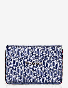 ICONIC TOMMY CC MONO - porte-monnaies - blue ink monogram