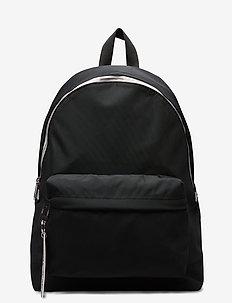 TJW LOGO TAPE BACKPACK NYL - backpacks - black