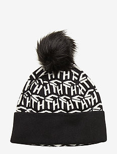 TH CUBE KNIT BEANIE - bonnets - black / white