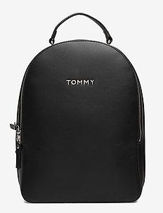 TOMMY STAPLE DOME BA - backpacks - black