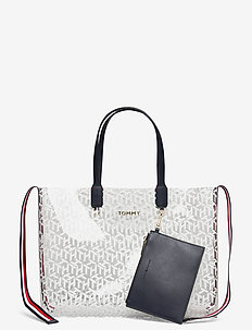 ICONIC TOMMY TOTE TR - casual shoppers - transparent monogram