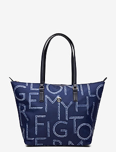 POPPY TOTE ROPE - casual shoppers - white / blue mix