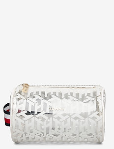 ICONIC TOMMY WASHBAG - kosmetiktasche - transparent monogram