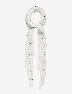 FLAG ALLOVER PRINT - scarves - bright white