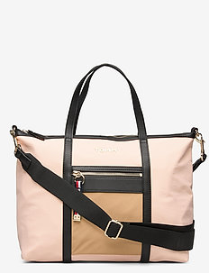 NYLON SATCHEL - top handle - cameo/khaki