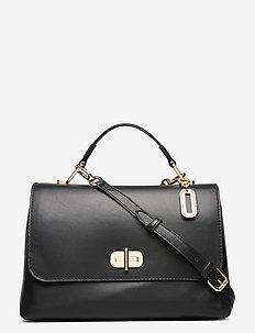 SOFT TURNLOCK SATCHEL - shoulder bags - black