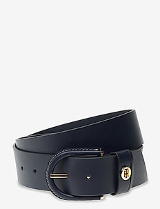 HIGH WAIST OVAL BUCKLE BELT 4.5 - bælter - sky captain