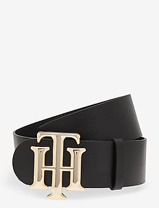 HIGH WAIST LOGO BELT 5.0 - bælter - black