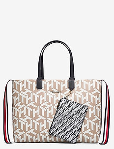 ICONIC TOMMY TOTE MONOGRAM - fashion shoppers - neutral monogram