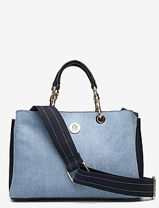 TH CORE MED SATCHEL DENIM - handtassen - denim