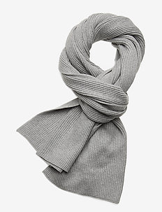 ESSENTIAL KNIT SCARF - tørklæder - mid grey heather