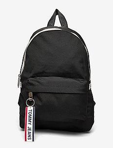 TJW LOGO TAPE MINI BACKPACK - bags - black