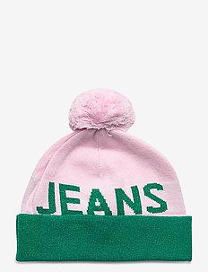 TJW SEASONAL LUREX BEANIE - mutsen - pink mix