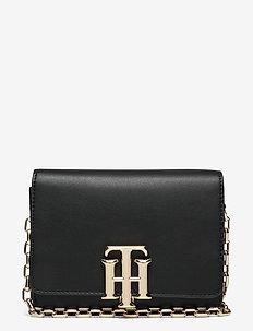 TH LOCK MINI CROSSOVER - crossbody bags - black