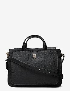 TH SOFT SATCHEL - handväskor - black