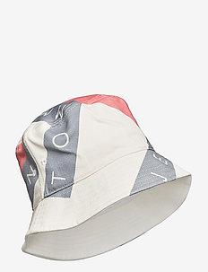 TJW HERITAGE FLAG BUCKET - bucket hats - white