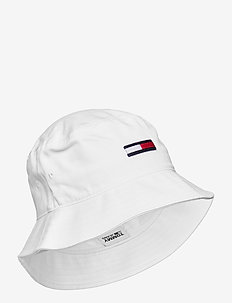 TJW FLAG BUCKET HAT - bucket hats - white