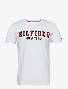 WCC HILFIGER OUTLINE - lyhythihaiset - bright white