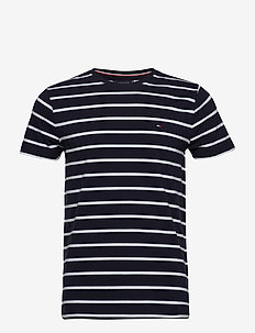 STRETCH SLIM FIT TEE - SKY CAPTAIN/BRIGHT WHITE