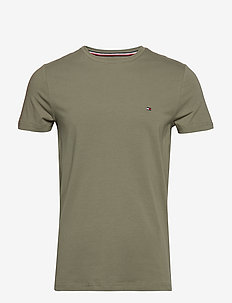 STRETCH SLIM FIT TEE - DUSTY OLIVE