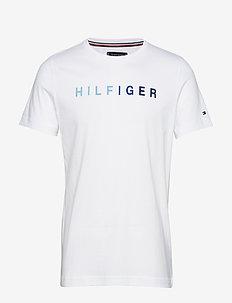 HILFIGER MULTI TEE - BRIGHT WHITE
