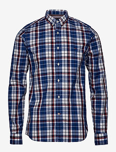 SLIM POPLIN CHECK SHIRT - BLUE QUARTZ / BW / MULTI