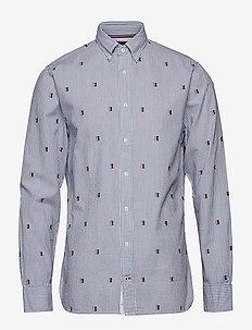 SEERSUCKER EMBROIDERY SHIRT - business skjorter - blue quartz / multi