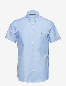 SLIM ORGANIC OXFORD SHIRT S/S - SHIRT BLUE