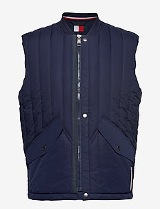 STRETCH QUILTED VEST - MARITIME BLUE