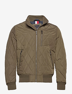 DIAMOND QUILTED BOMB - quilted jackets - process green